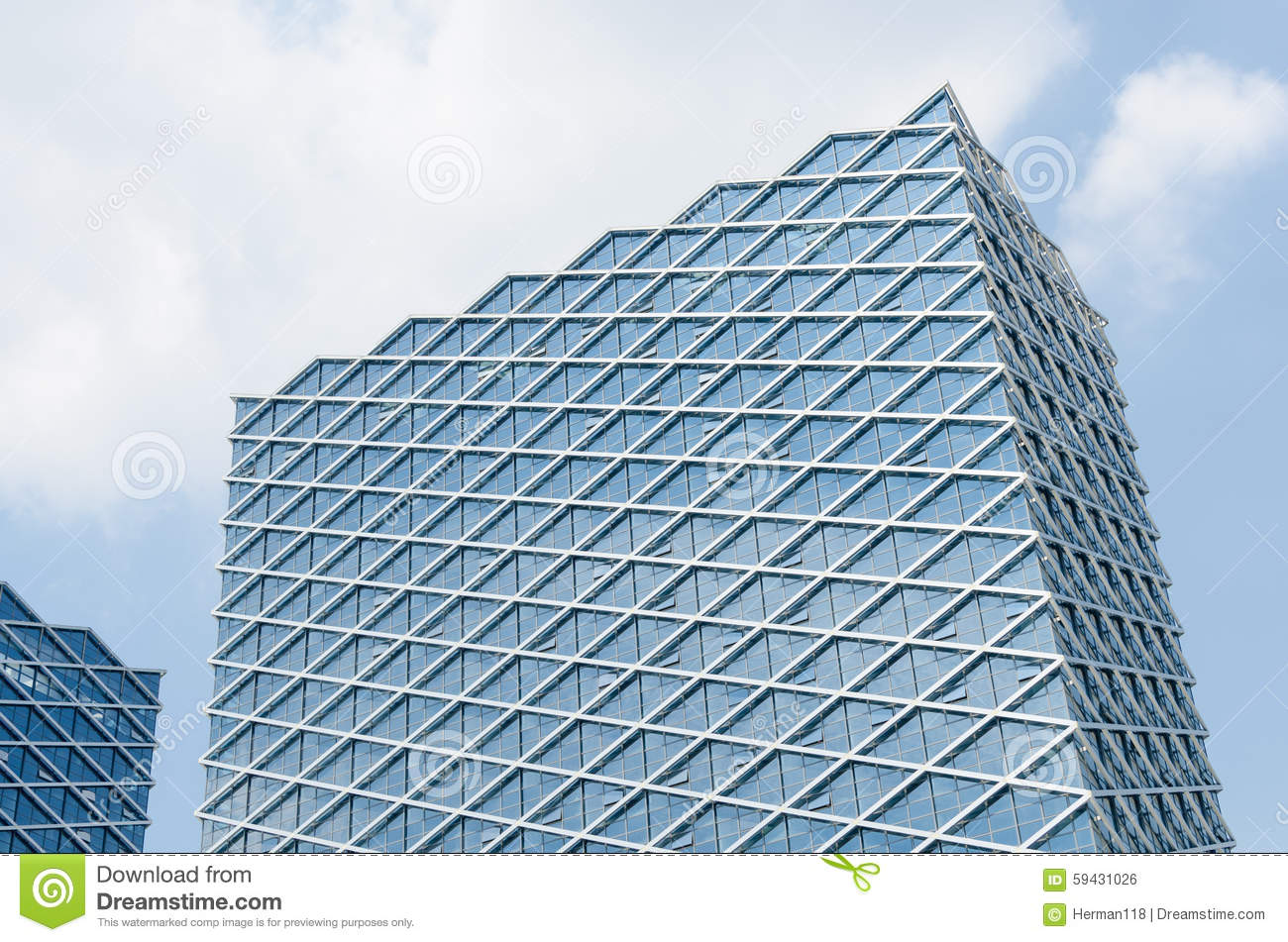 Glass curtain wall - At Noon The Modern Glass Curtain Wall Construction