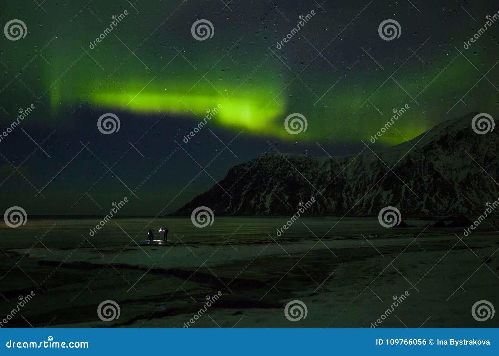 Noordelijke Lichten Aurora Borealis Noorwegen, Lofoten