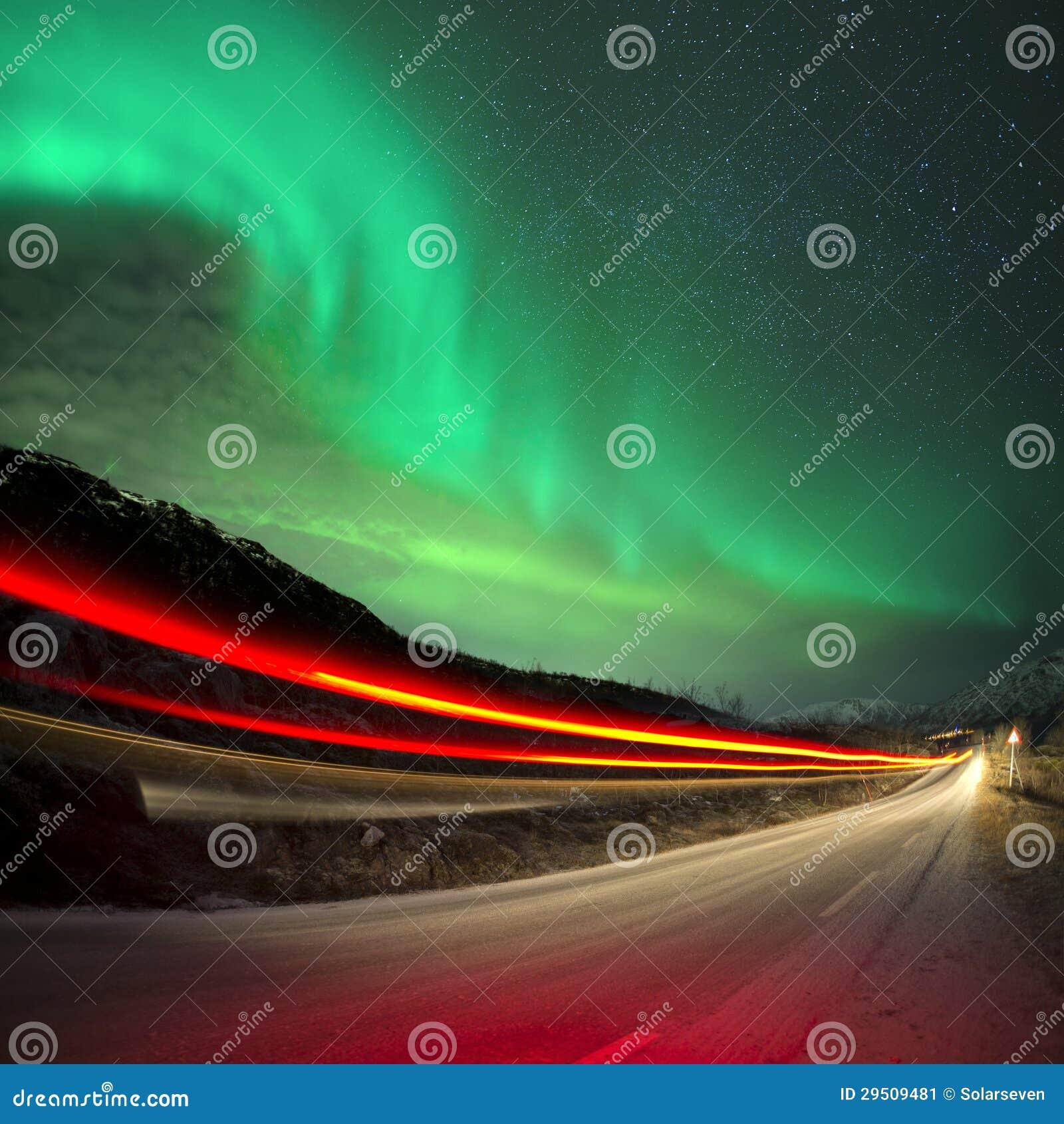Noordelijke Lichten en slepen
