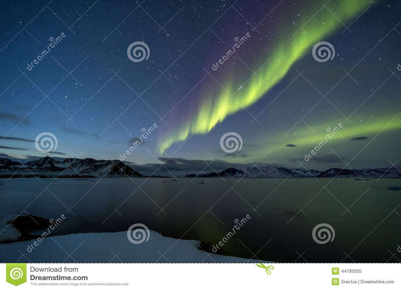Noordelijke Lichten op de Noordpoolhemel
