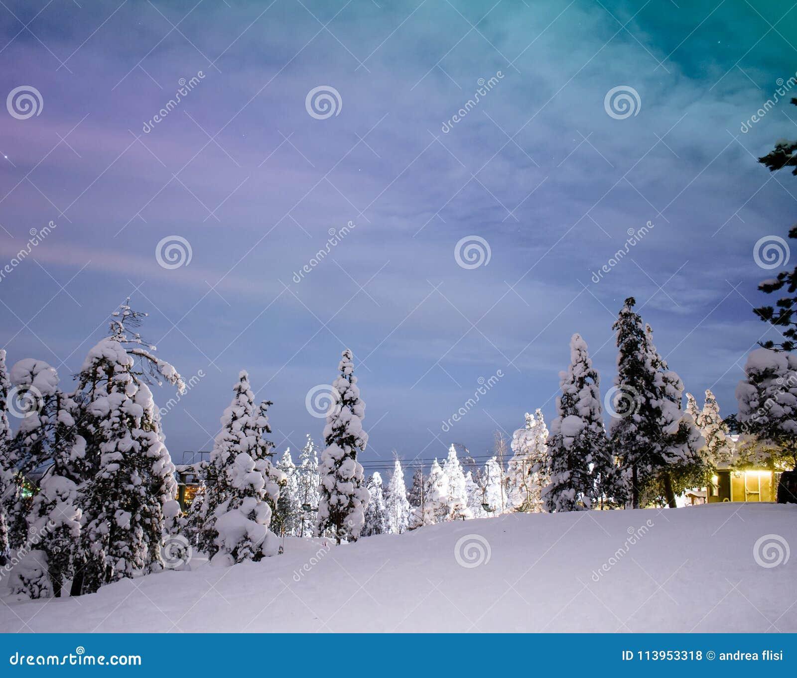 Noordelijke lichten in Rovaniemi - Lapland