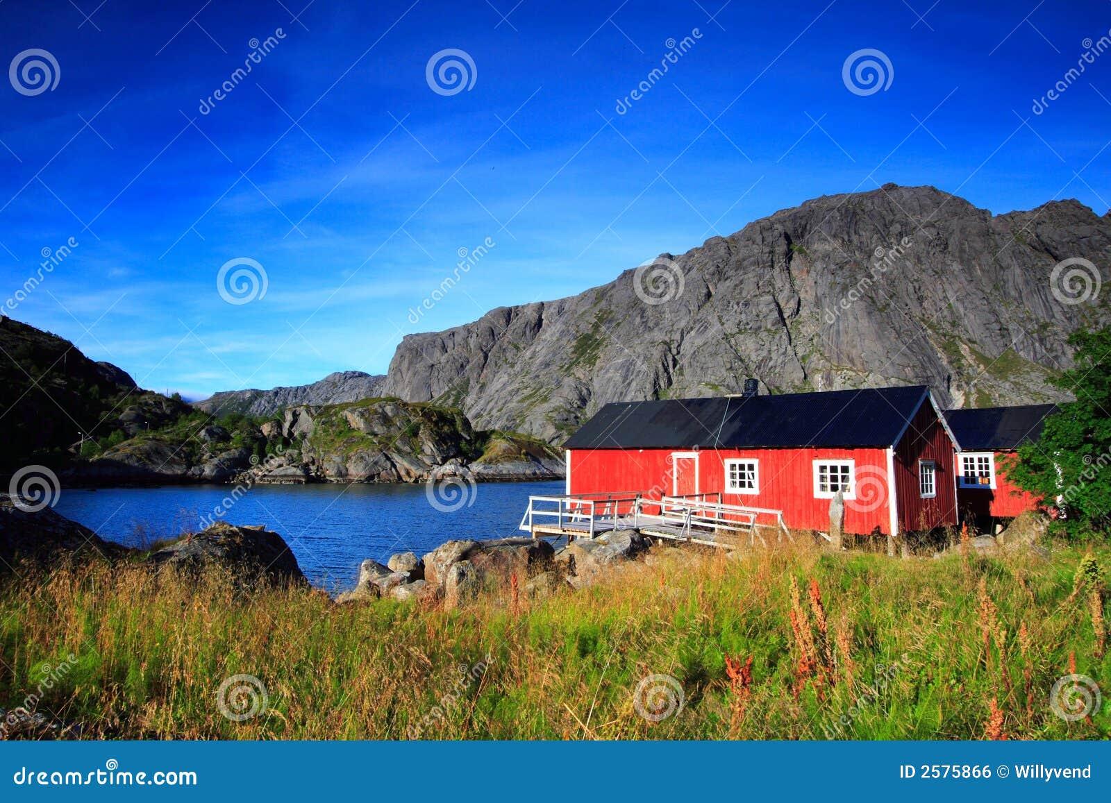 Noorse rode huizen