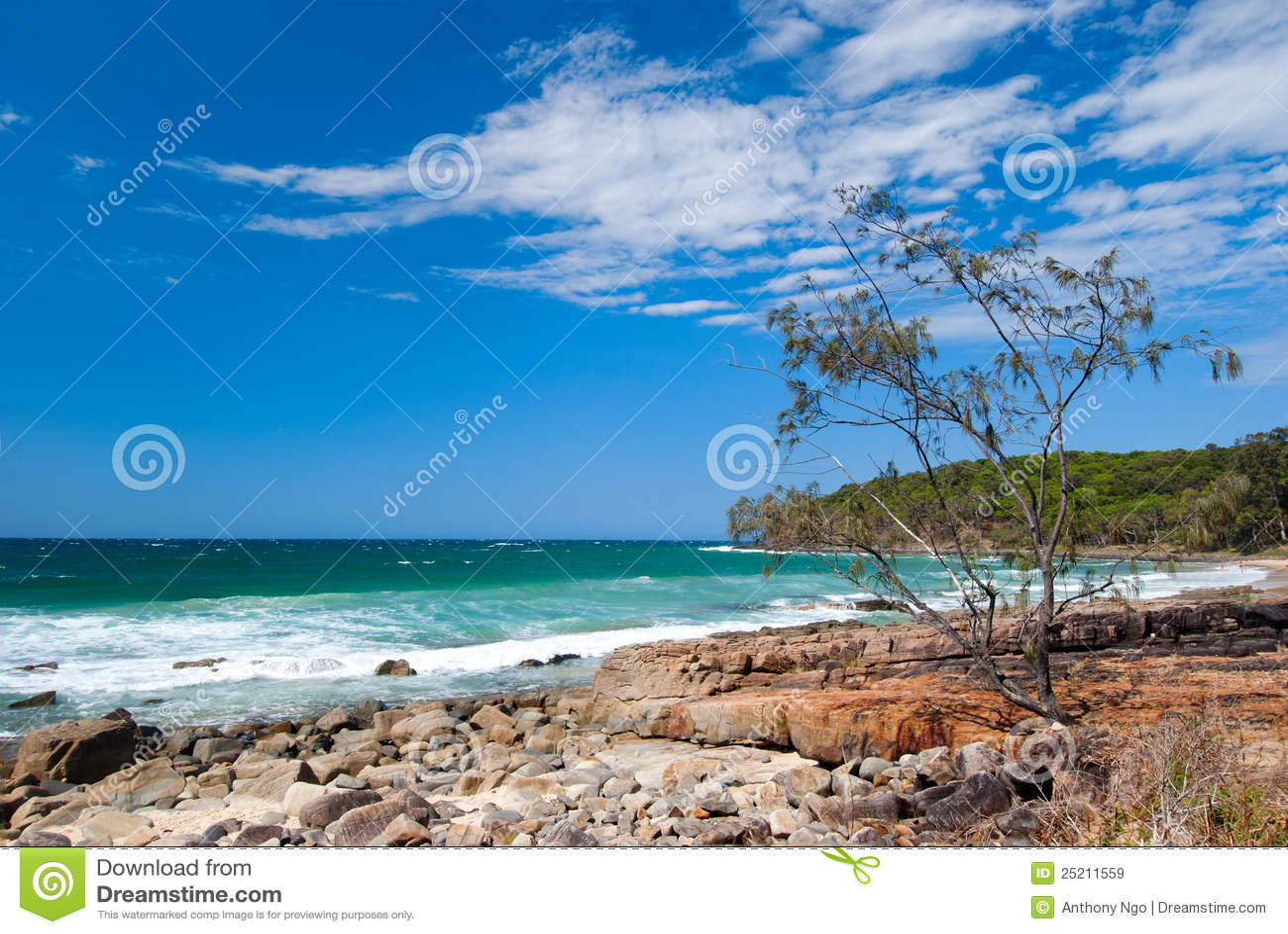 Noosa Beach - Queendsland - Australia Royalty Free Stock ...