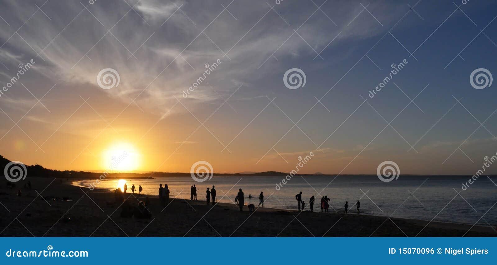 Noosa Heads Sunset - Queensland, Australia Royalty Free ...
