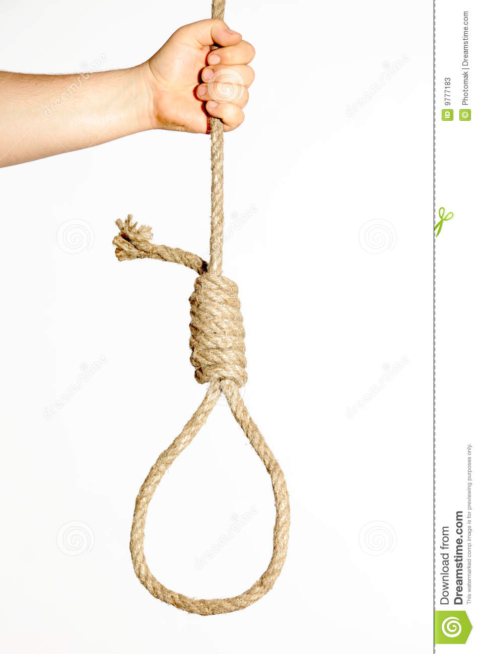 Noose In Hand On White Background Stock Image Image Of Reef Hitch 9777183