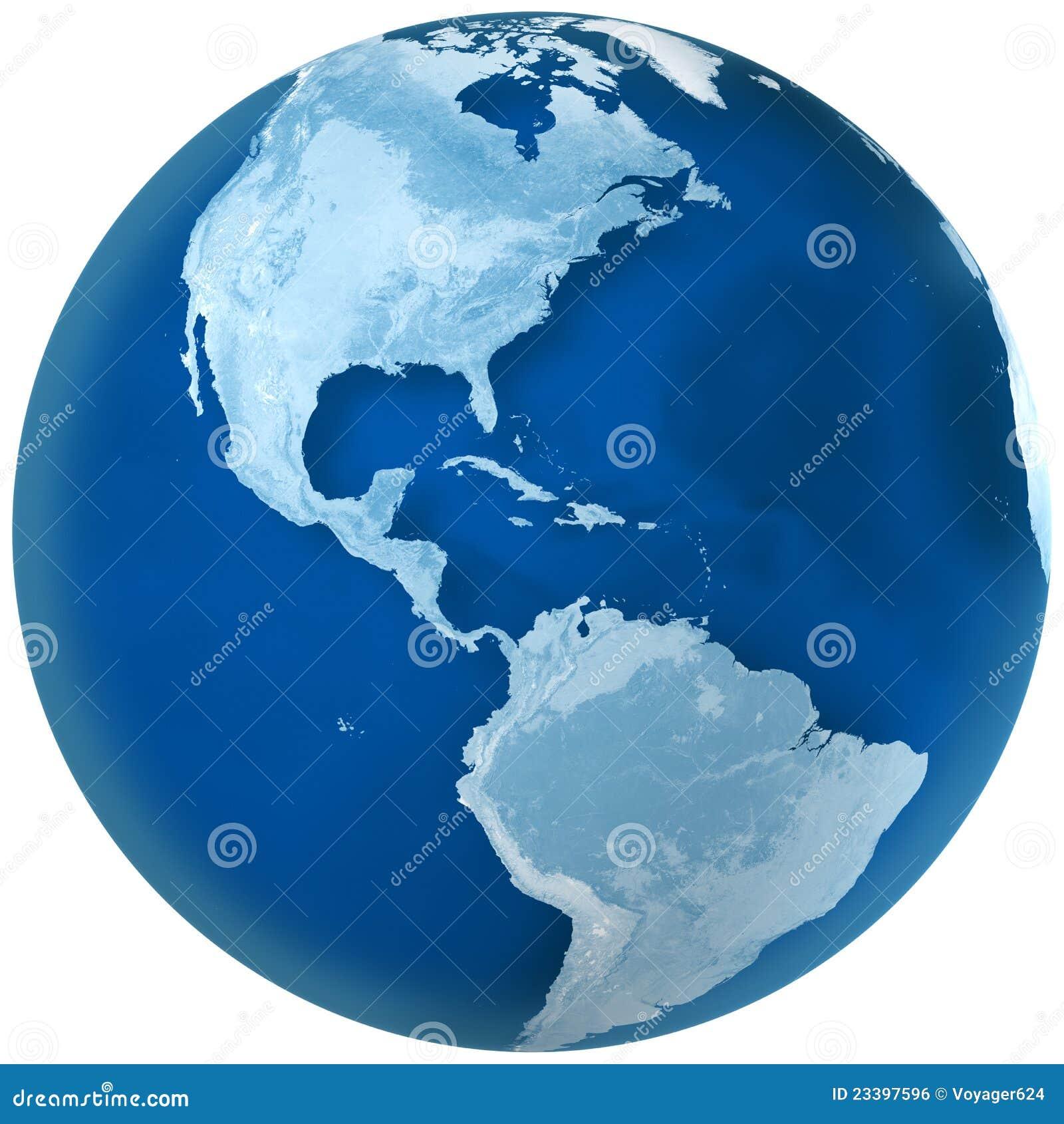 Nord bleu et l Amérique du Sud de la terre