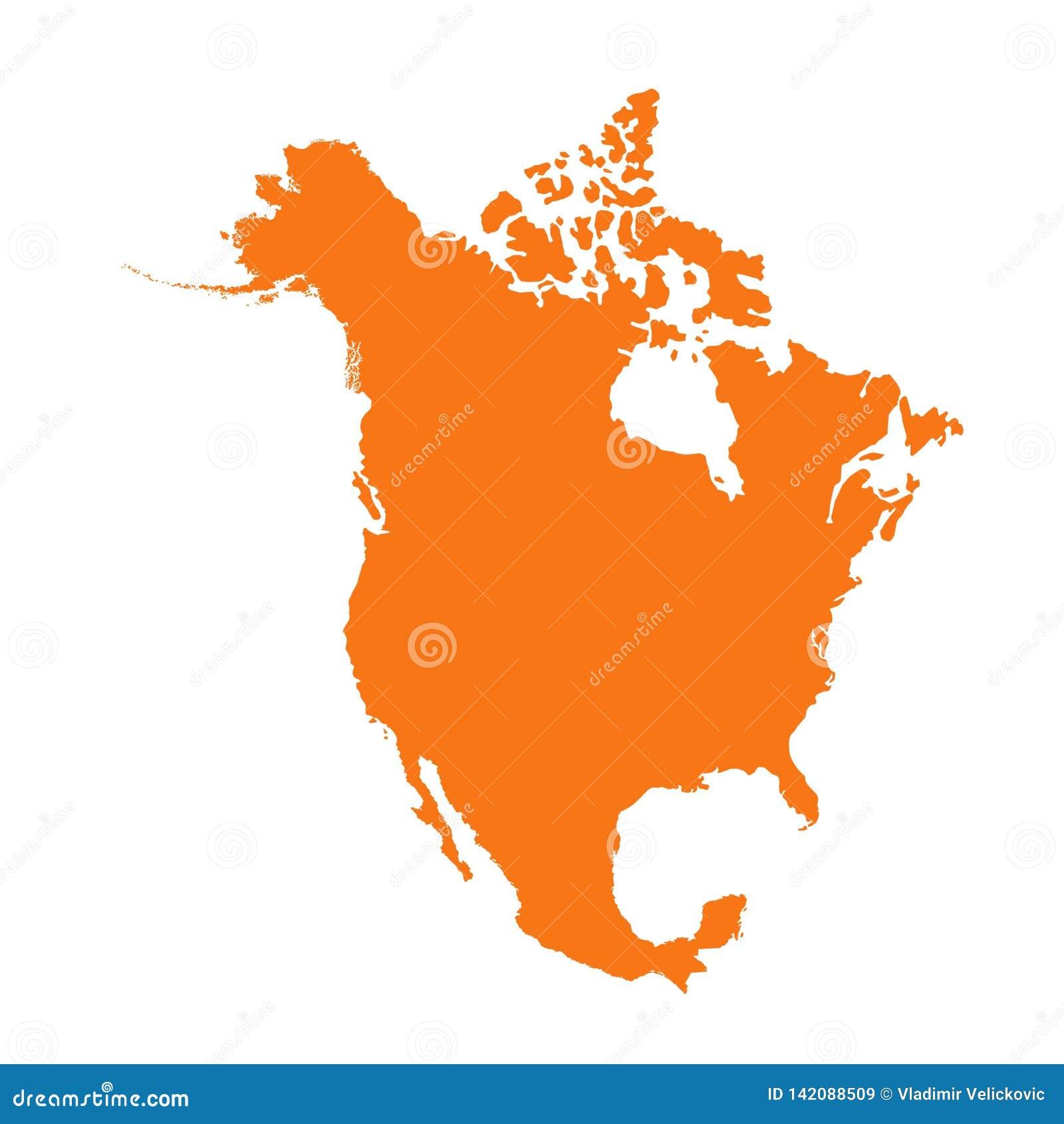 Nordamerika översikt - kontinent