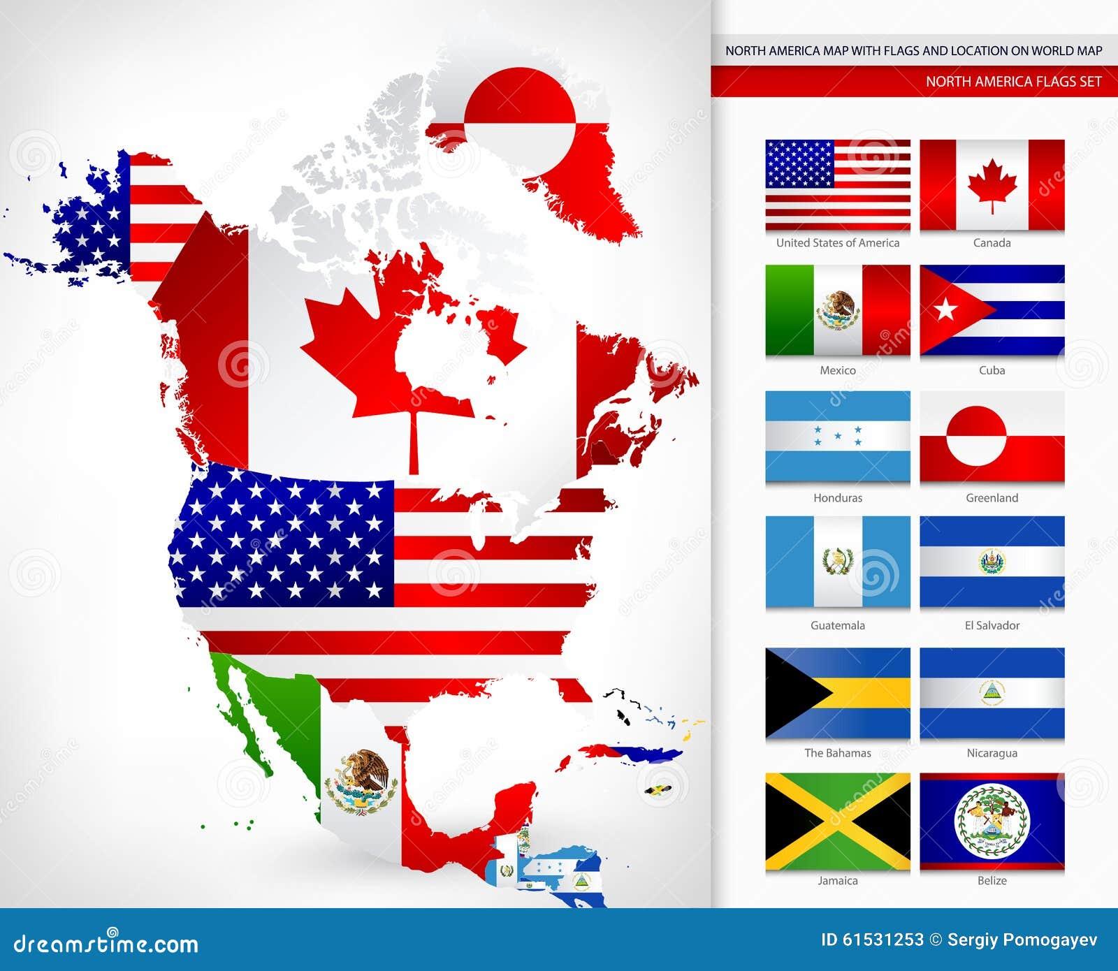 Flagge Nordamerika
