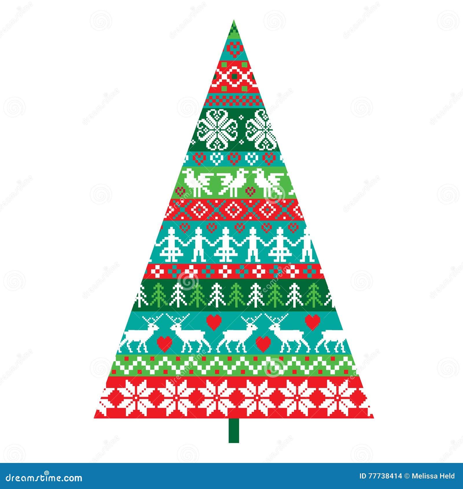 Nordic Christmas Tree Stock Illustration Illustration Of December 77738414
