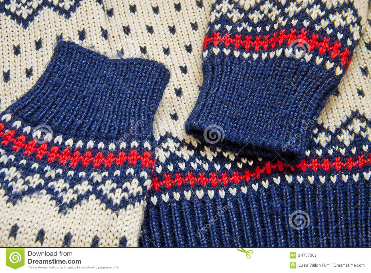 Nordic Knit Sweater Close Up Royalty Free Stock ...