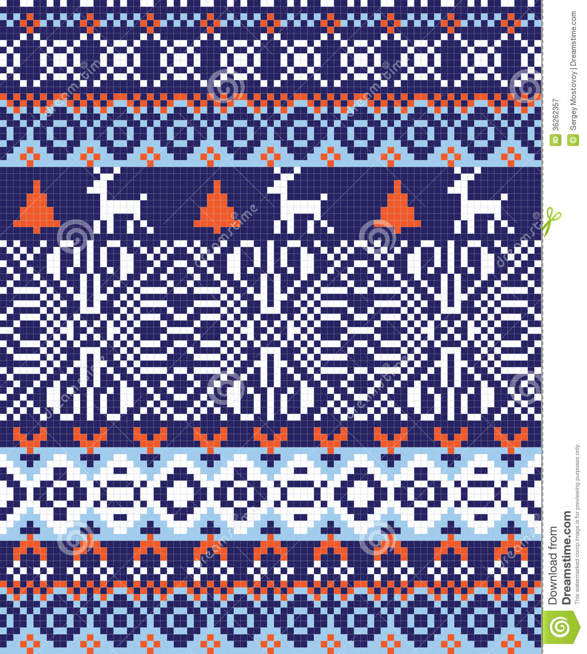 Nordic Pattern Background Stock Vector Illustration Of