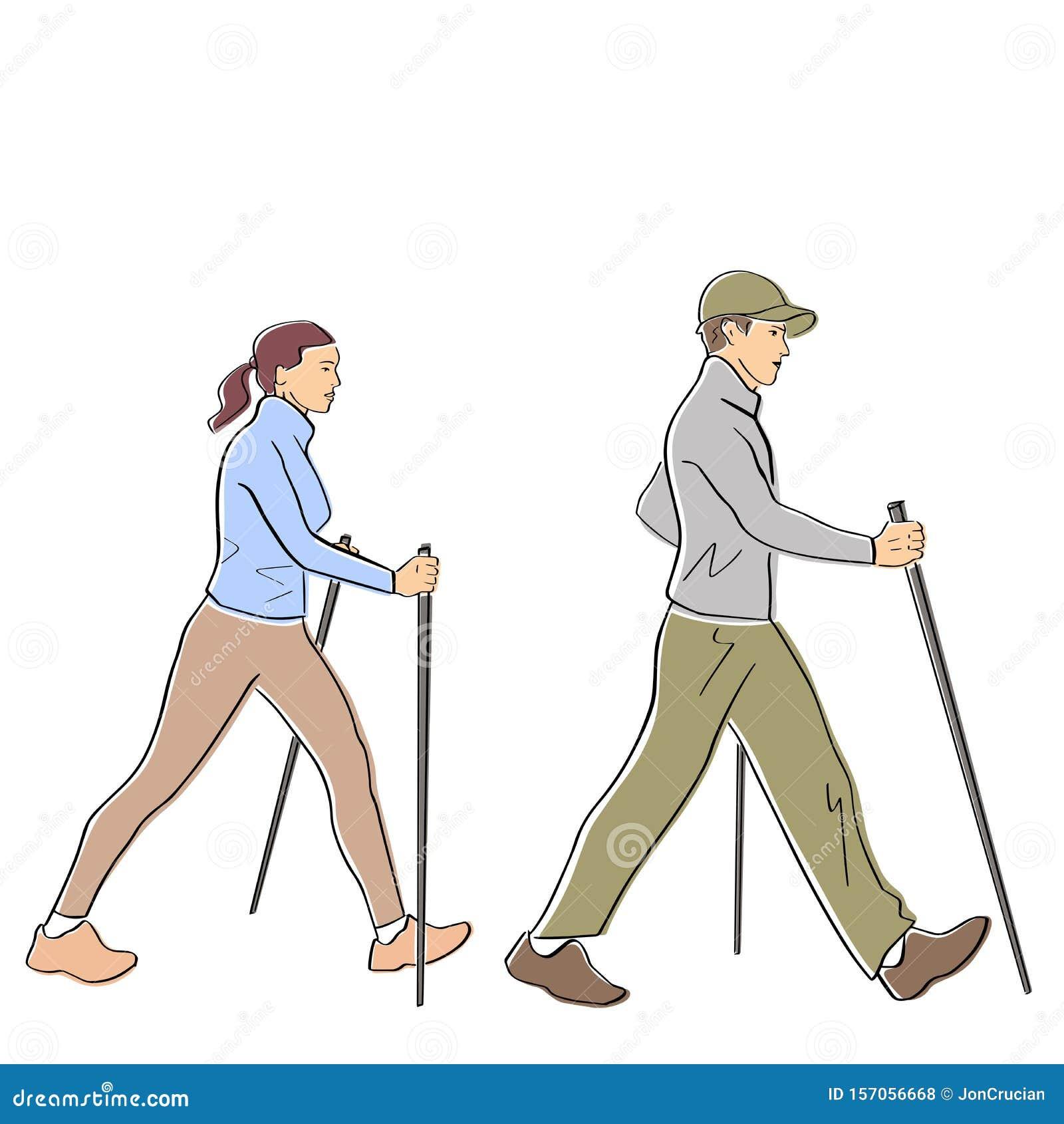 Nordic or scandinavian walking.