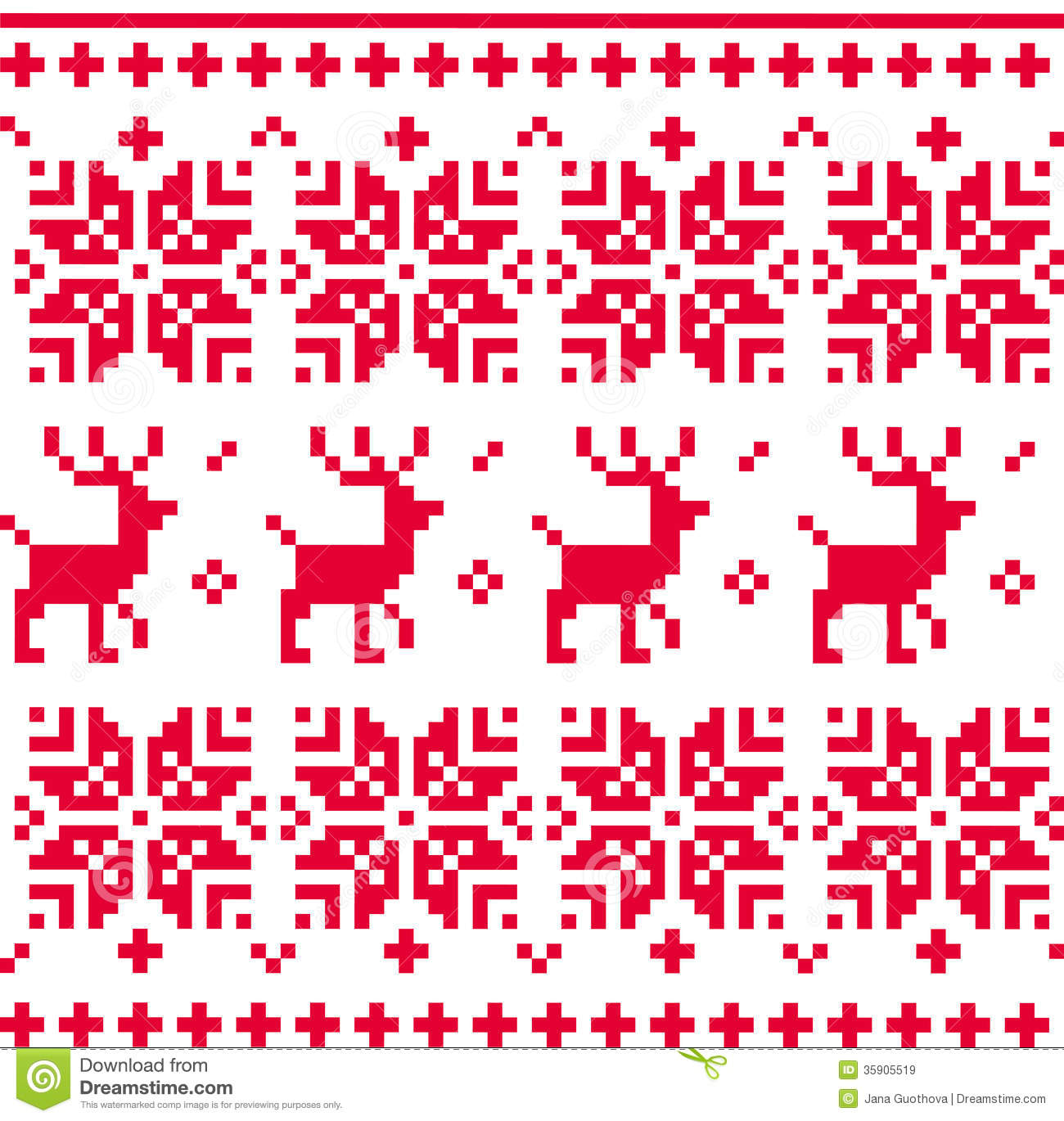 Nordic Seamless Knitted Christmas Pattern Vector Royalty ...