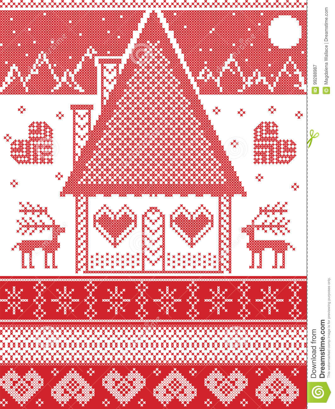Nordic Style, Inspired By Scandinavian Christmas Pattern ...