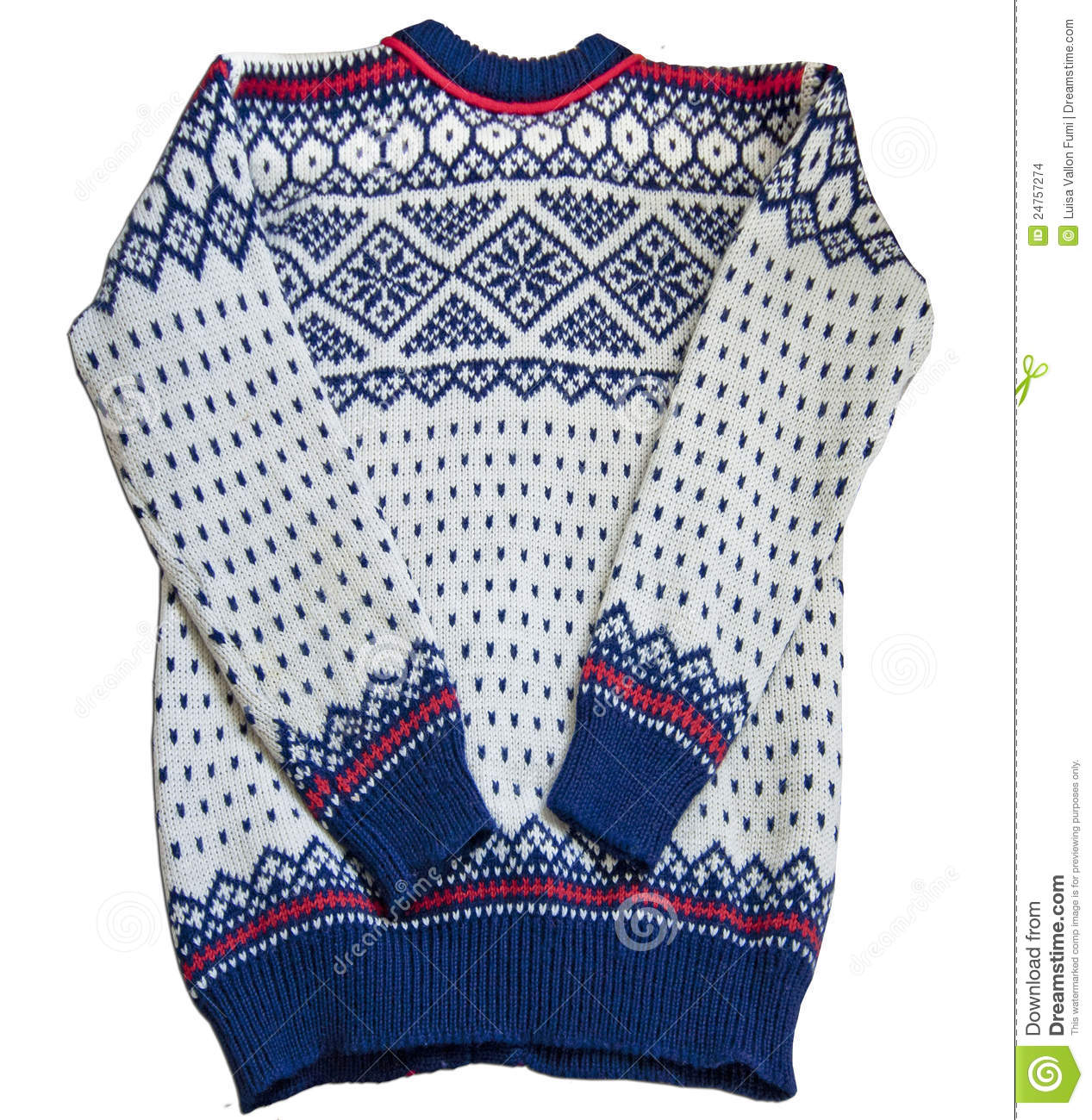 Knitting Patterns For Nordic Sweater : Nordic Sweater Jacquard Stock Images - Image: 24757274