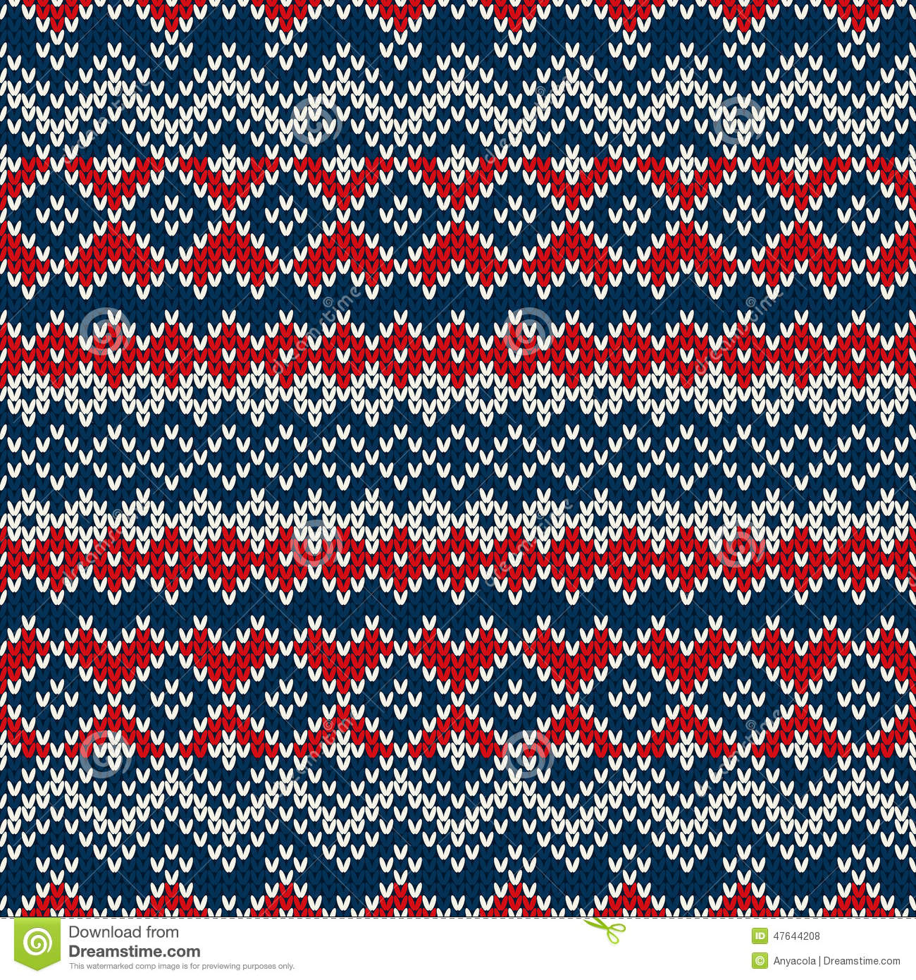 Nordic Traditional Fair Isle Style Seamless Knitted Pattern Stock ...