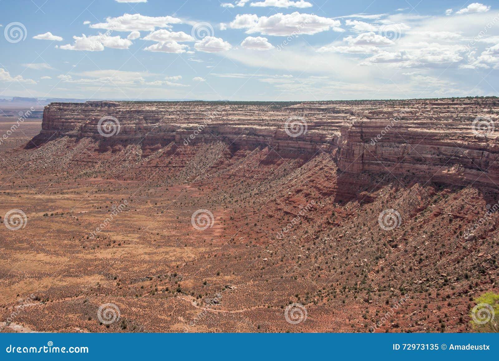Nordkante des Tales der Götter, die von Punkt Moki Dugway Muley angesehen werden, übersehen Utah USA