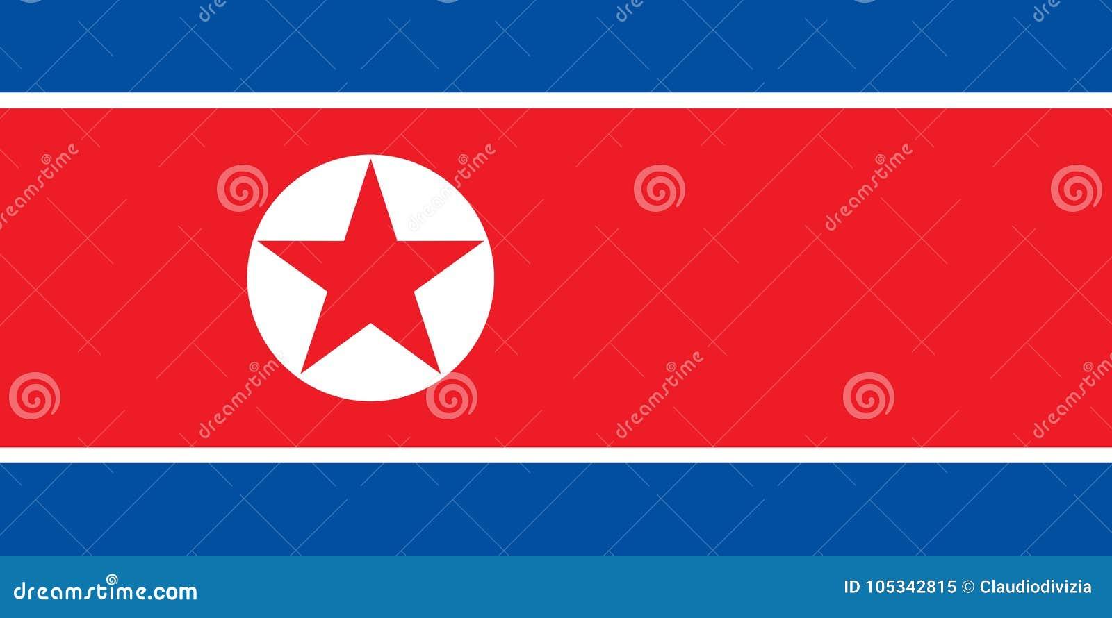 Nordkoreansk flagga av Nordkorea