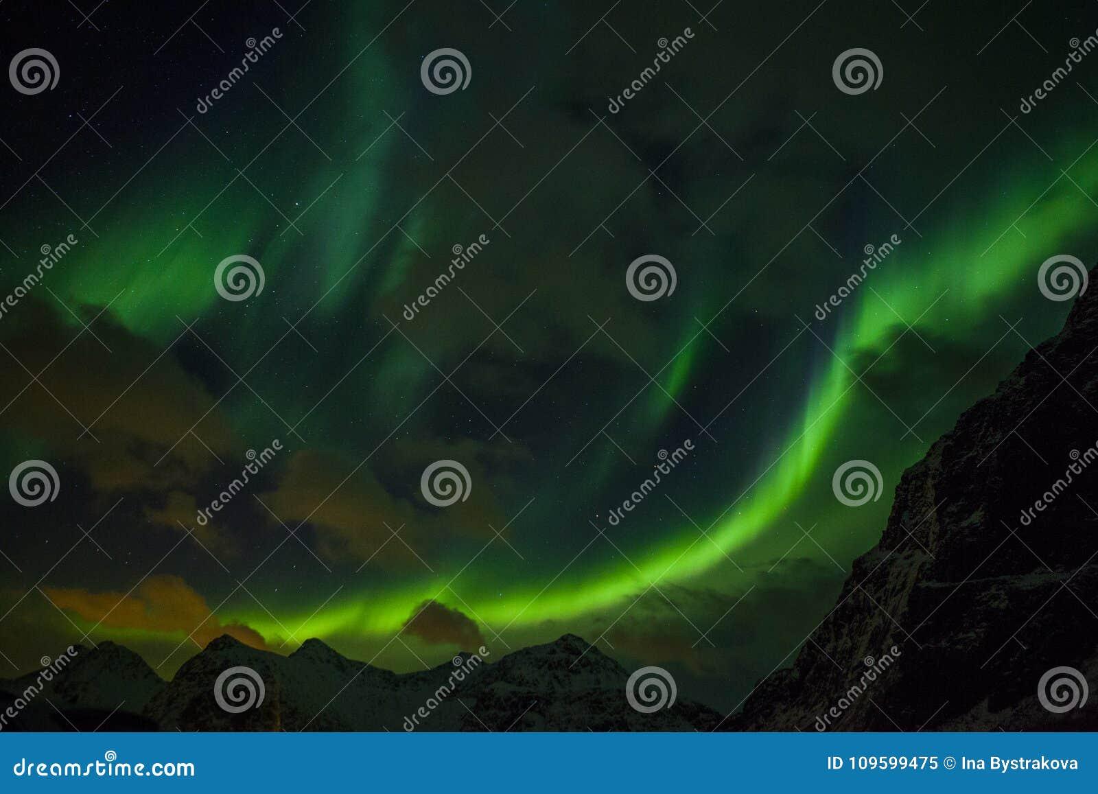 Nordlichter Aurora Borealis Norwegen, Lofoten