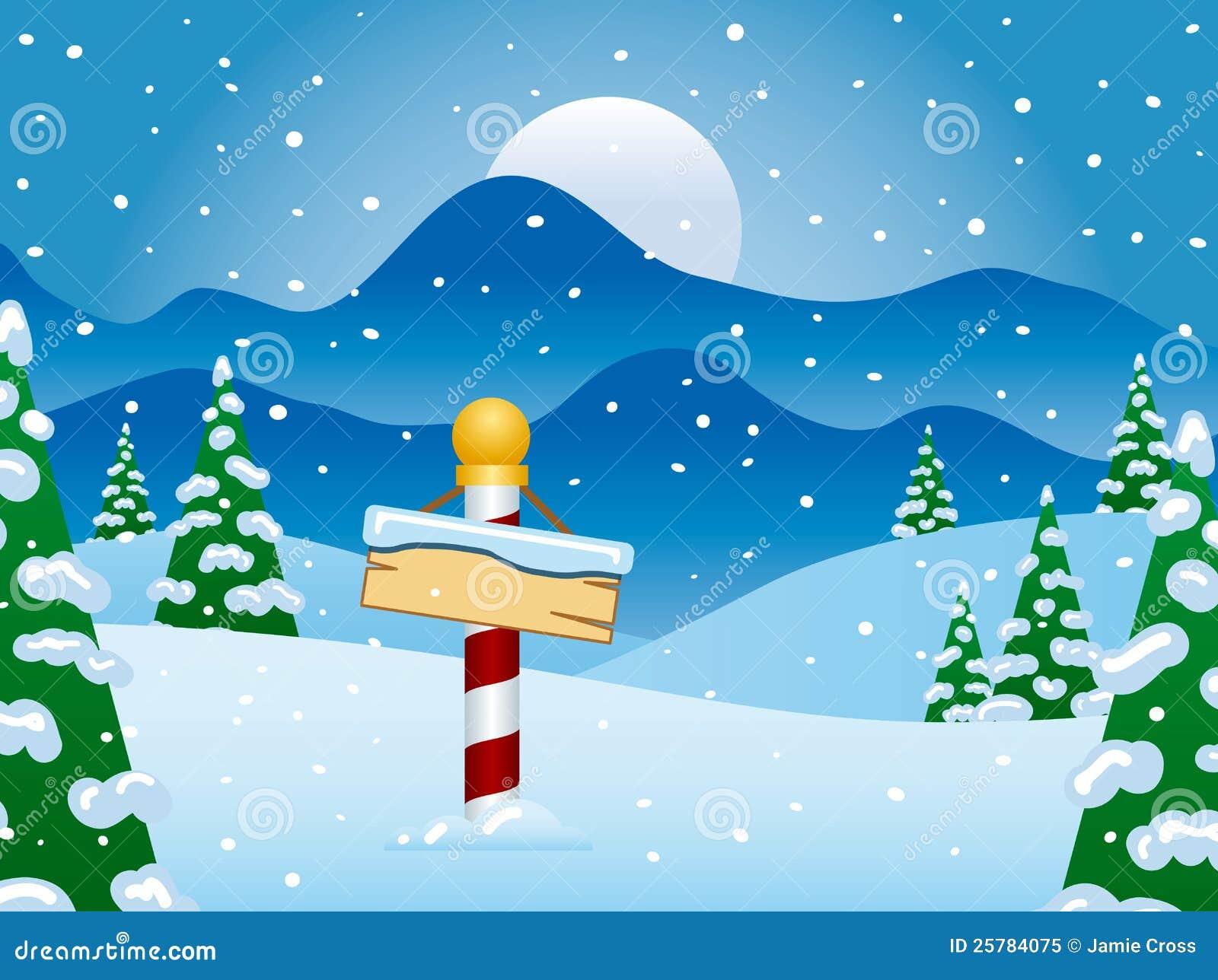 Nordpol-Winter-Szene Mit Schnee Vektor Abbildung - Illustration von ...