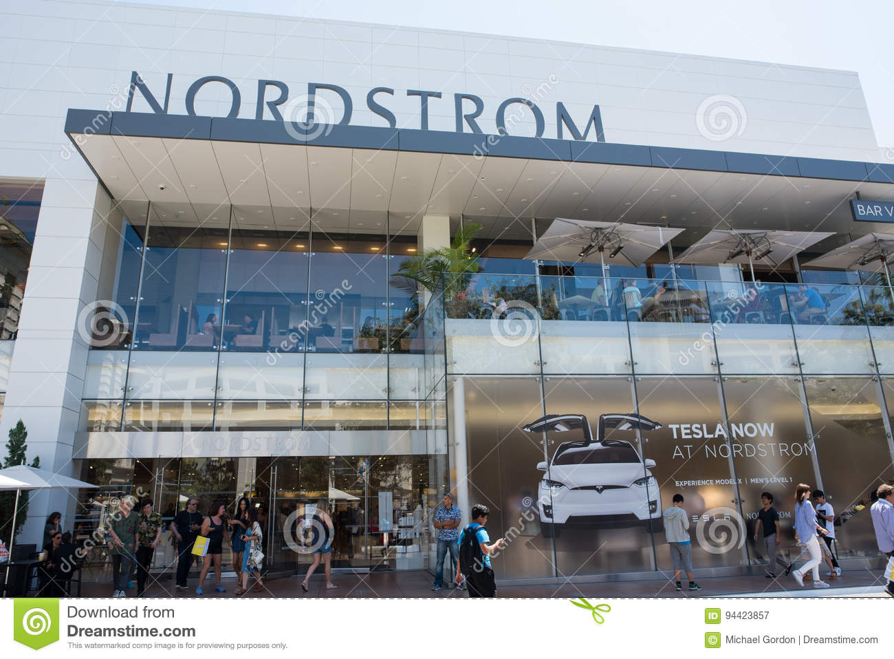 Nordstrom The Grove >> Nordstrom At The Grove Editorial Photography Image Of