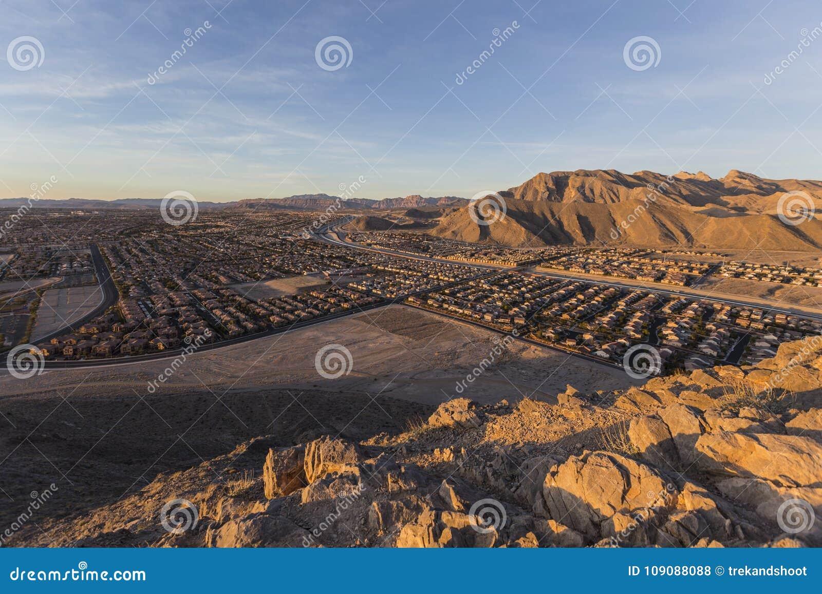 Nordvästligt Las Vegas ensamt berg Dawn View