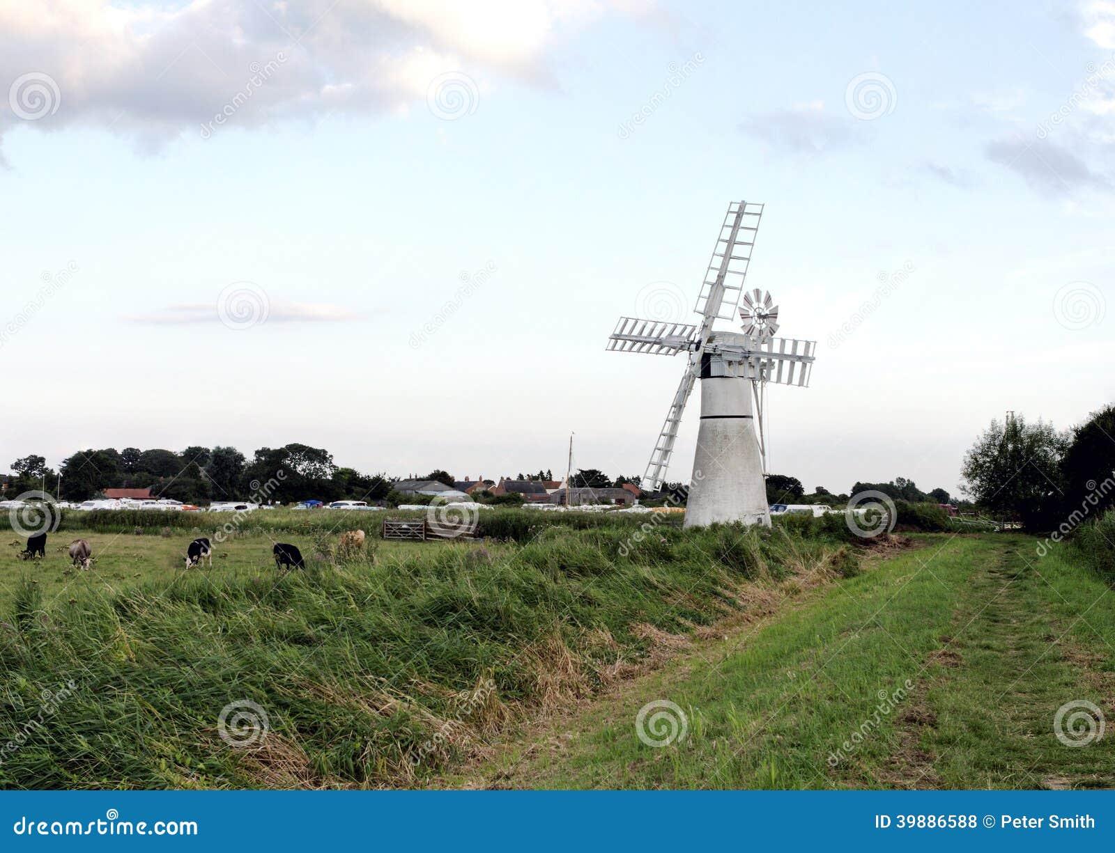 Norfolk broads windmill uk