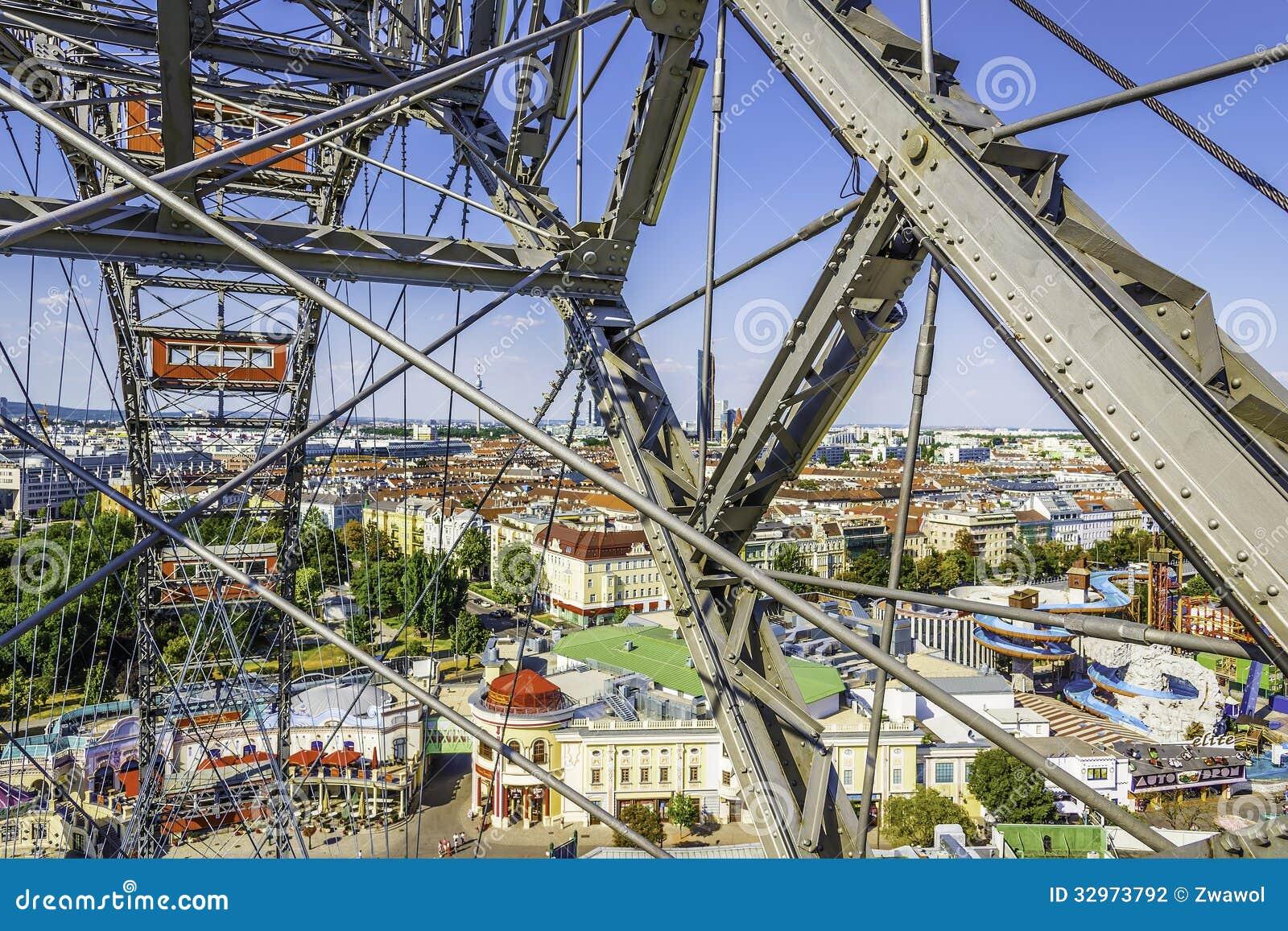 Noria en el Prater en Viena