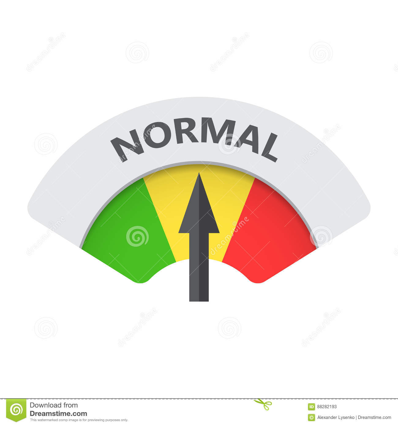 normal level risk gauge vector icon stock vector
