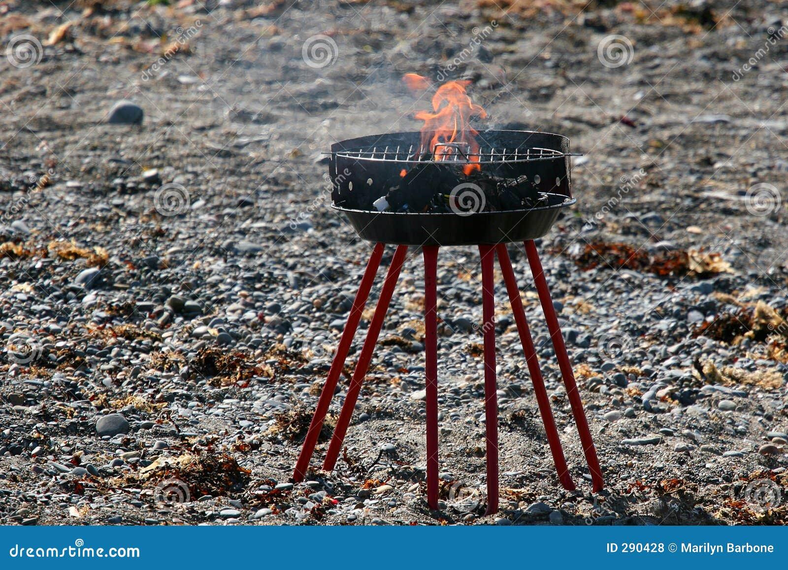 Normal strand för grillfest