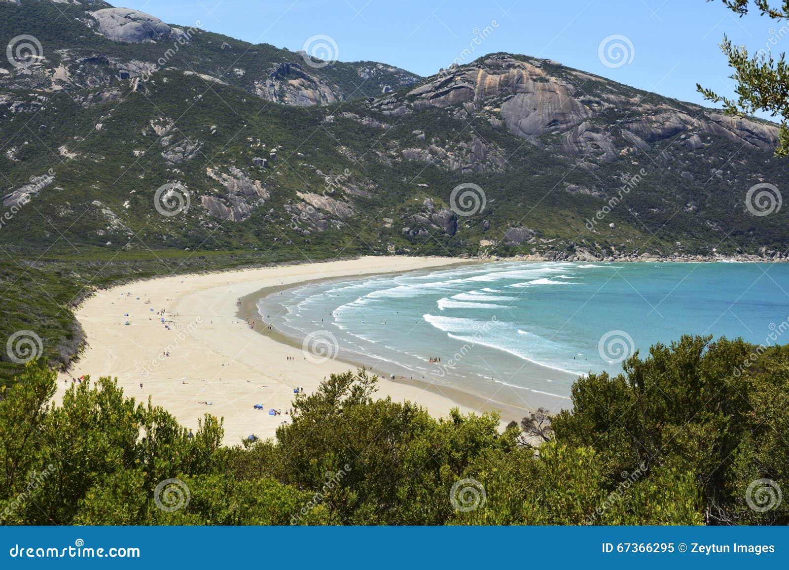 Norman Bay strand i Wilsons uddenationalpark