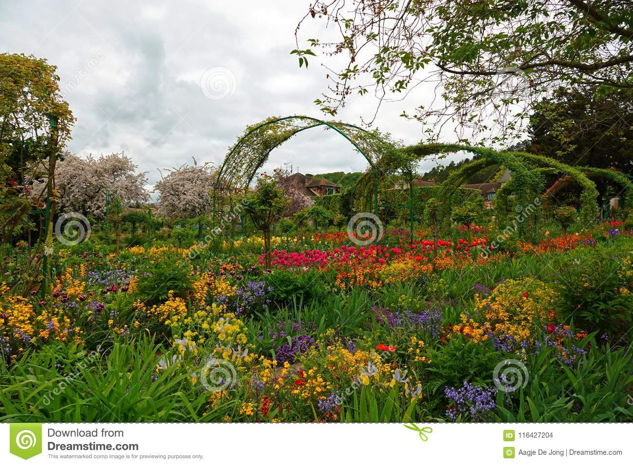 The Norman Garden Of Monet In Giverny Stock Photo Image Of