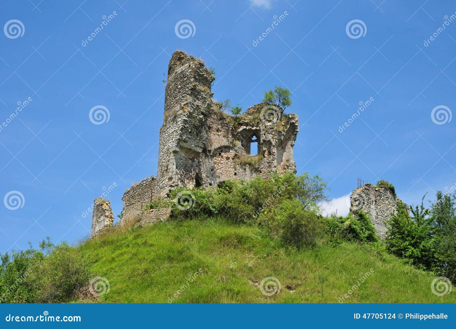 Normandie den pittoreska slotten av Chateausurepte