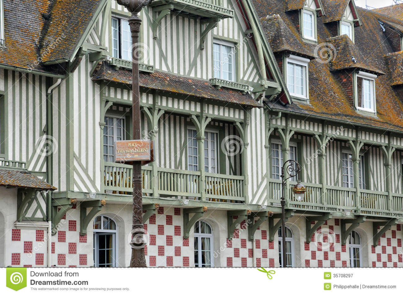 Normandy barriere hotel in deauville royalty free stock for Hotel deauville design