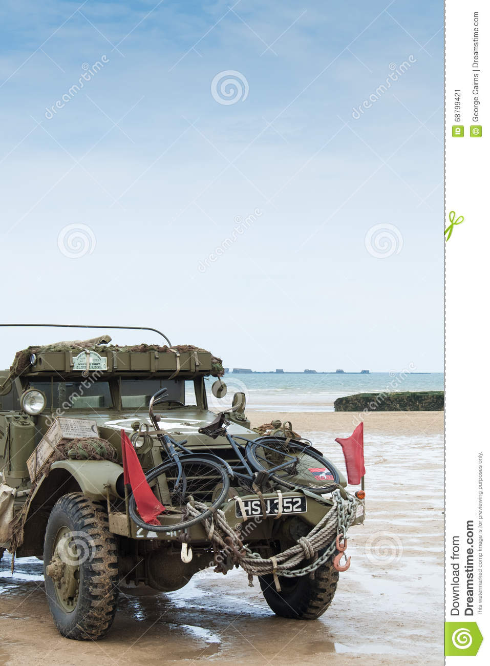 Normandy Beach On D Day Anniversary Editorial Photo