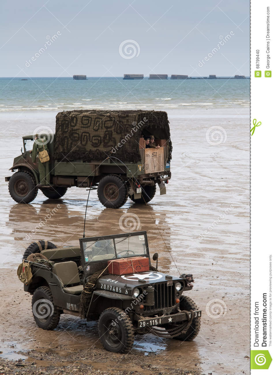 Normandy Beach On D Day Anniversary Editorial Image
