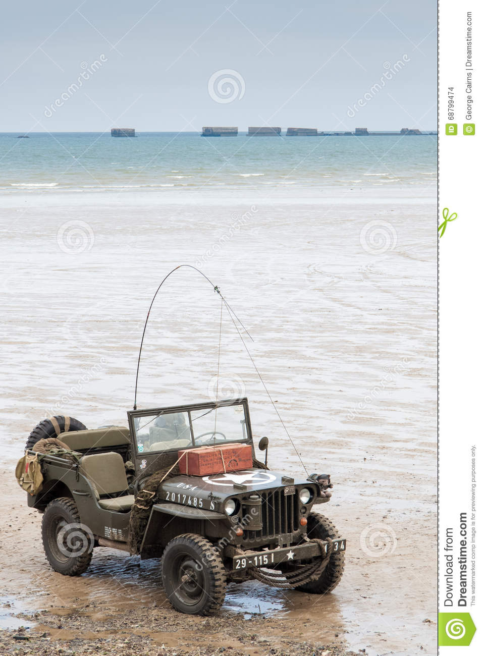 Normandy Beach On D Day Anniversary Editorial Stock Image