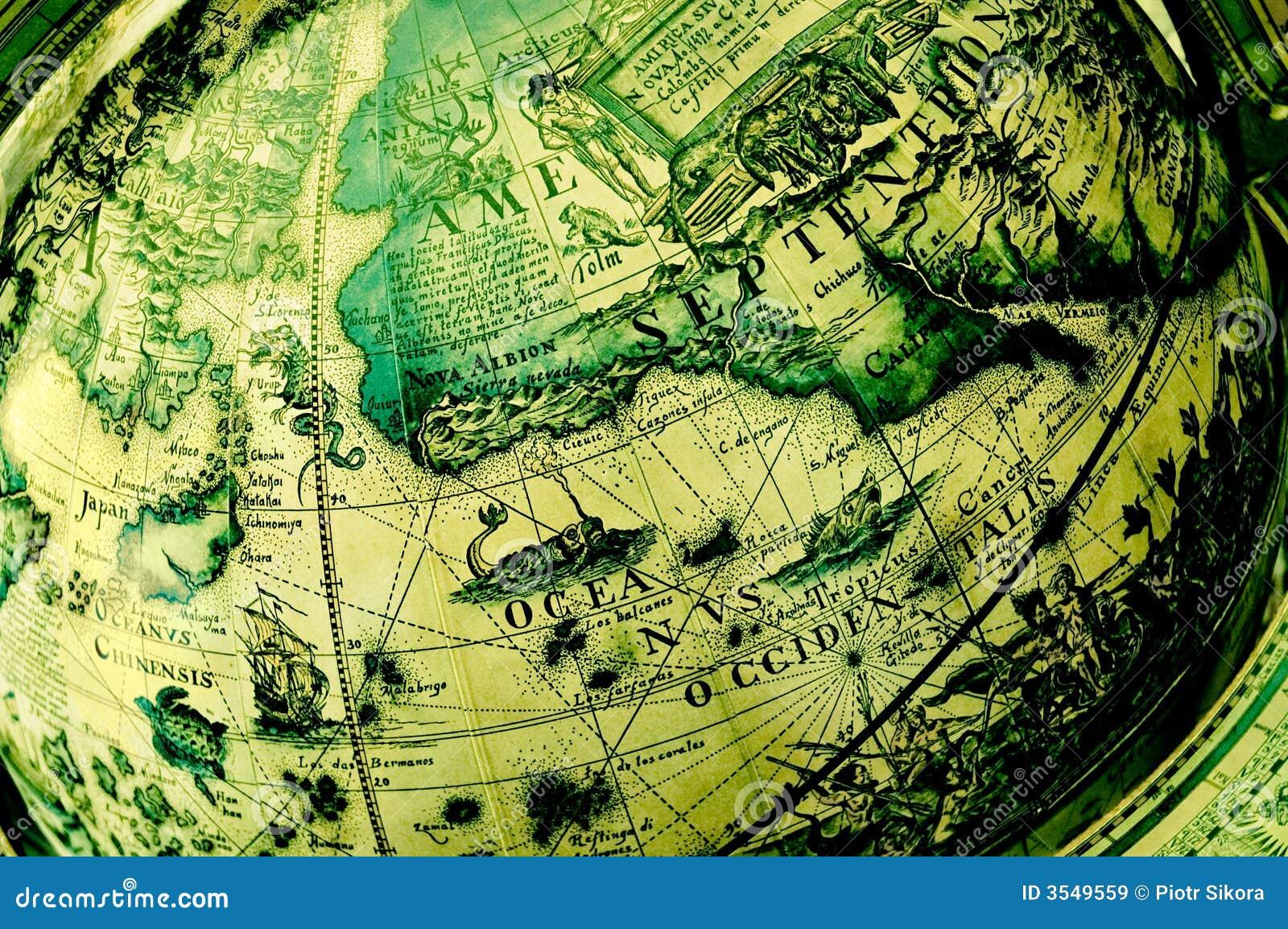 Norr Amerika antikt jordklot