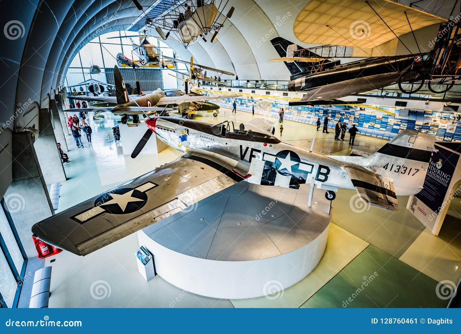 Norr - amerikansk mustang P-51 på RAF Museum
