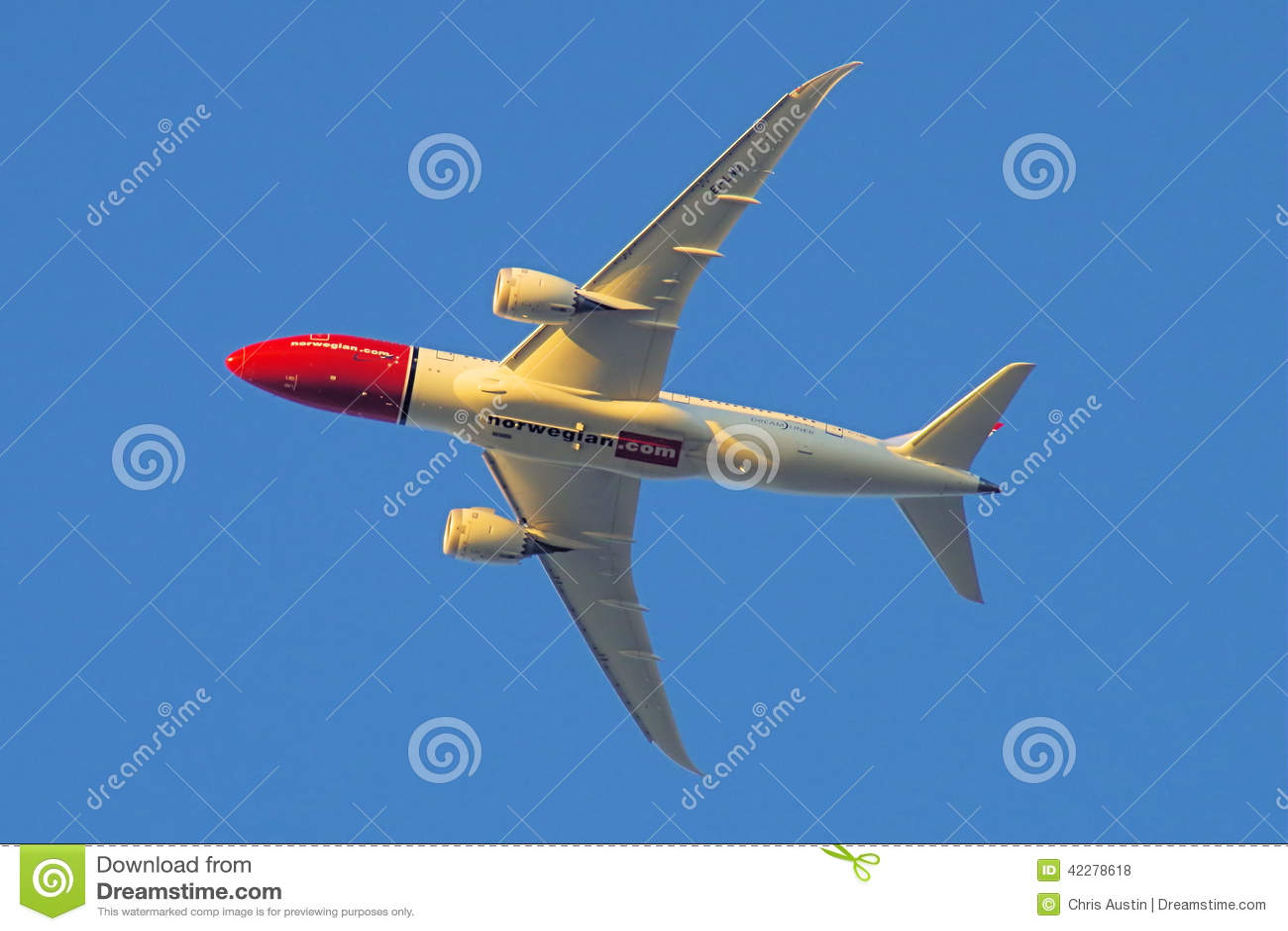 Norrman com Boing 787 Dreamliner