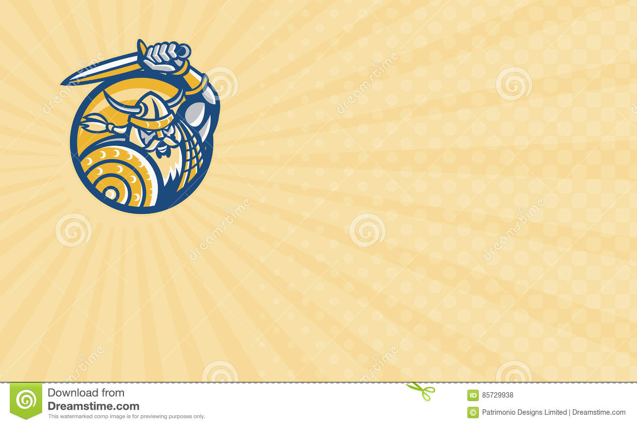 Norse Protection Agency Business Card Stock Illustration