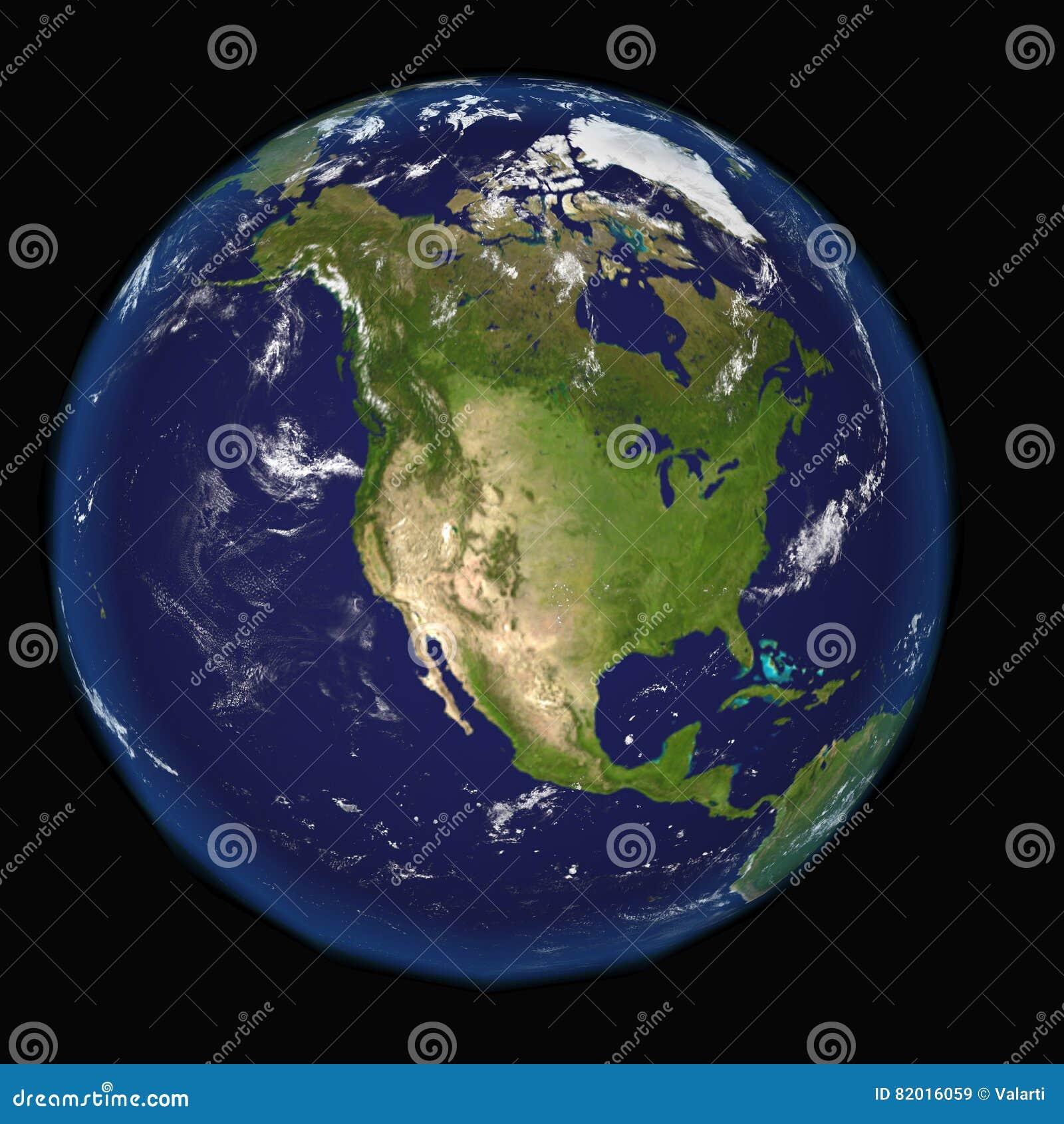 Norteamérica del espacio Elementos de esta imagen 3d equipados por la NASA