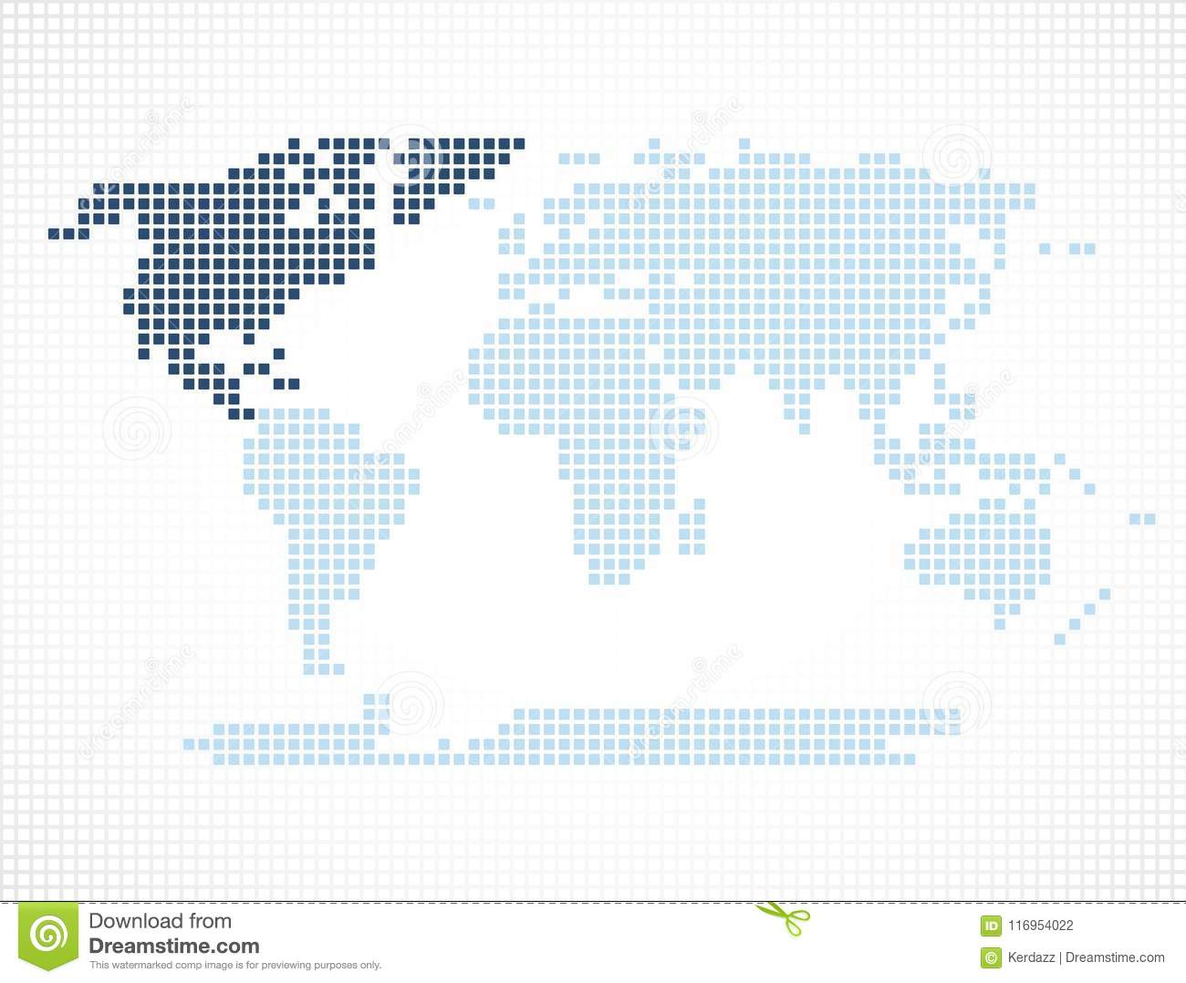 North america continent on the world map stock vector illustration world map with highlighted continent of north america gumiabroncs Images