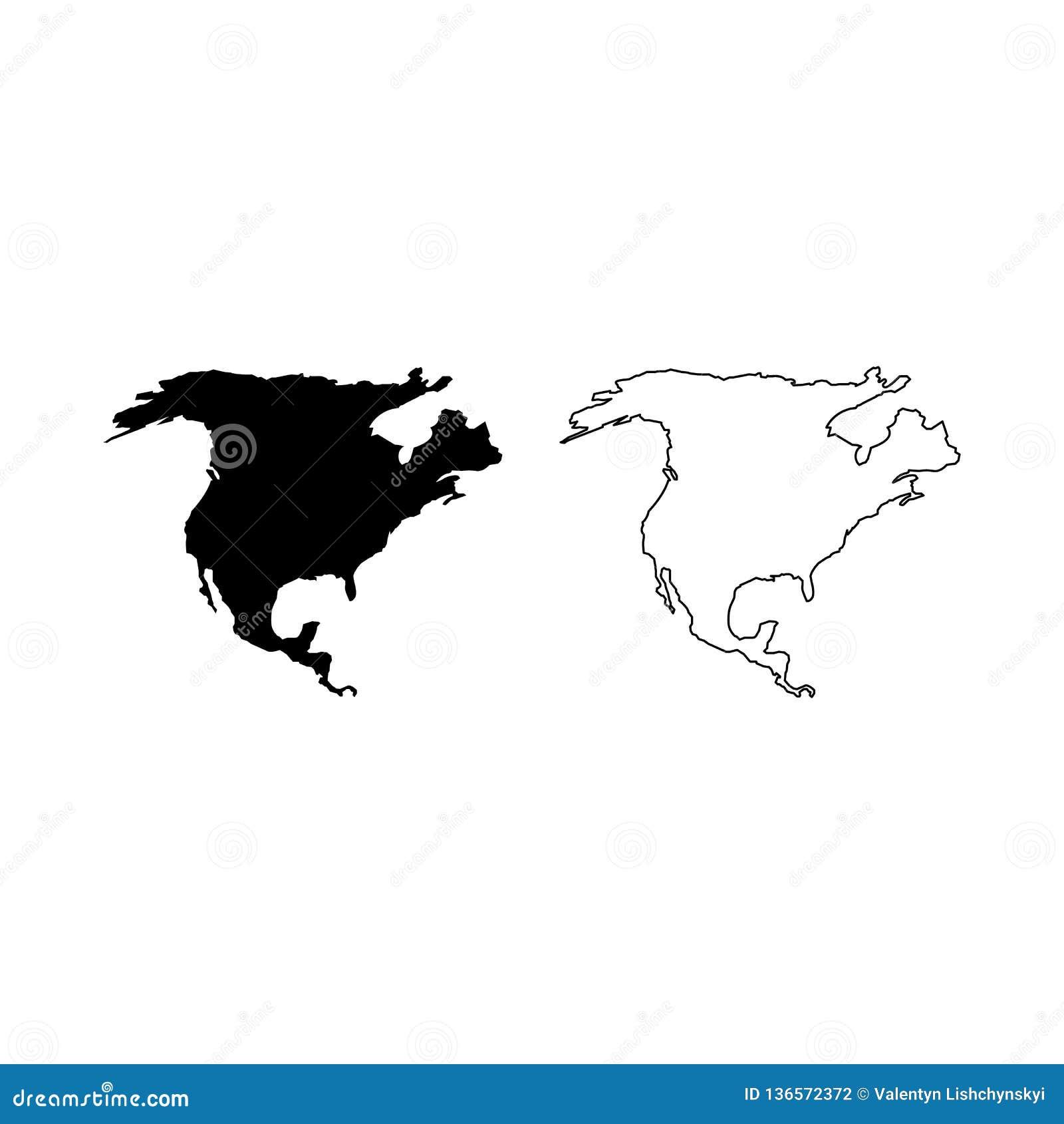 North America map. Flat simple design. vector EPS10