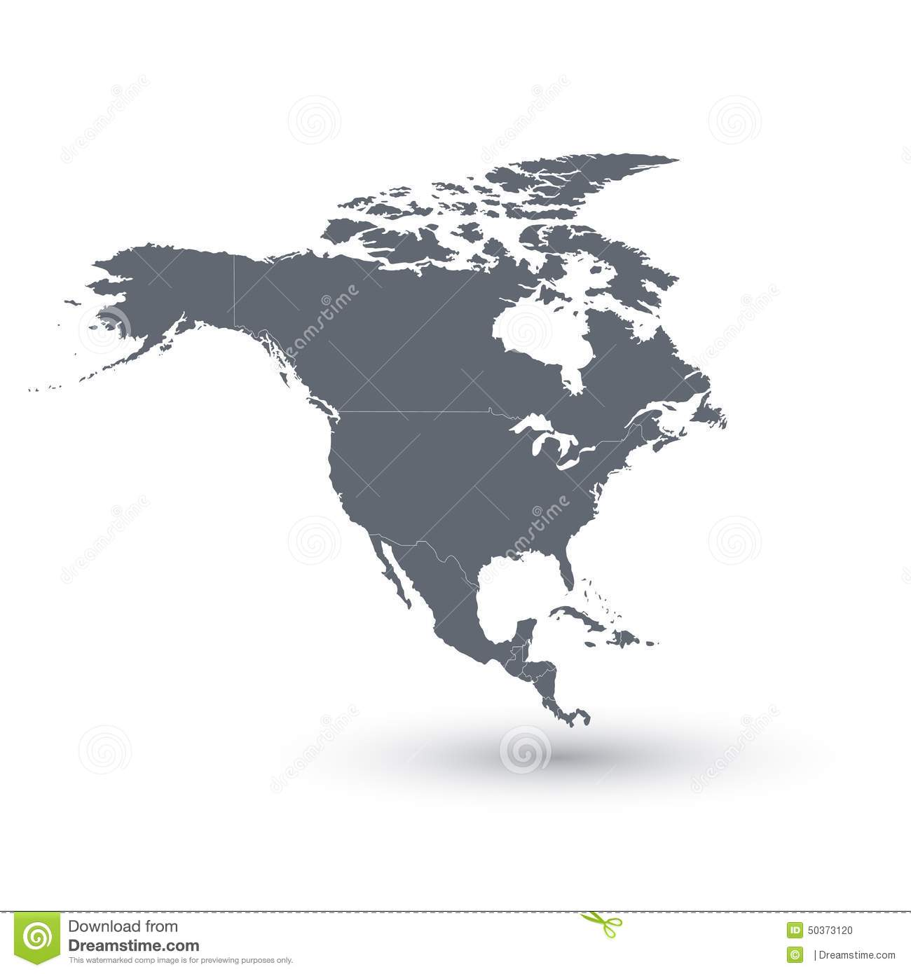 North America Map Vector Illustration Stock Illustration Image - Map of n america