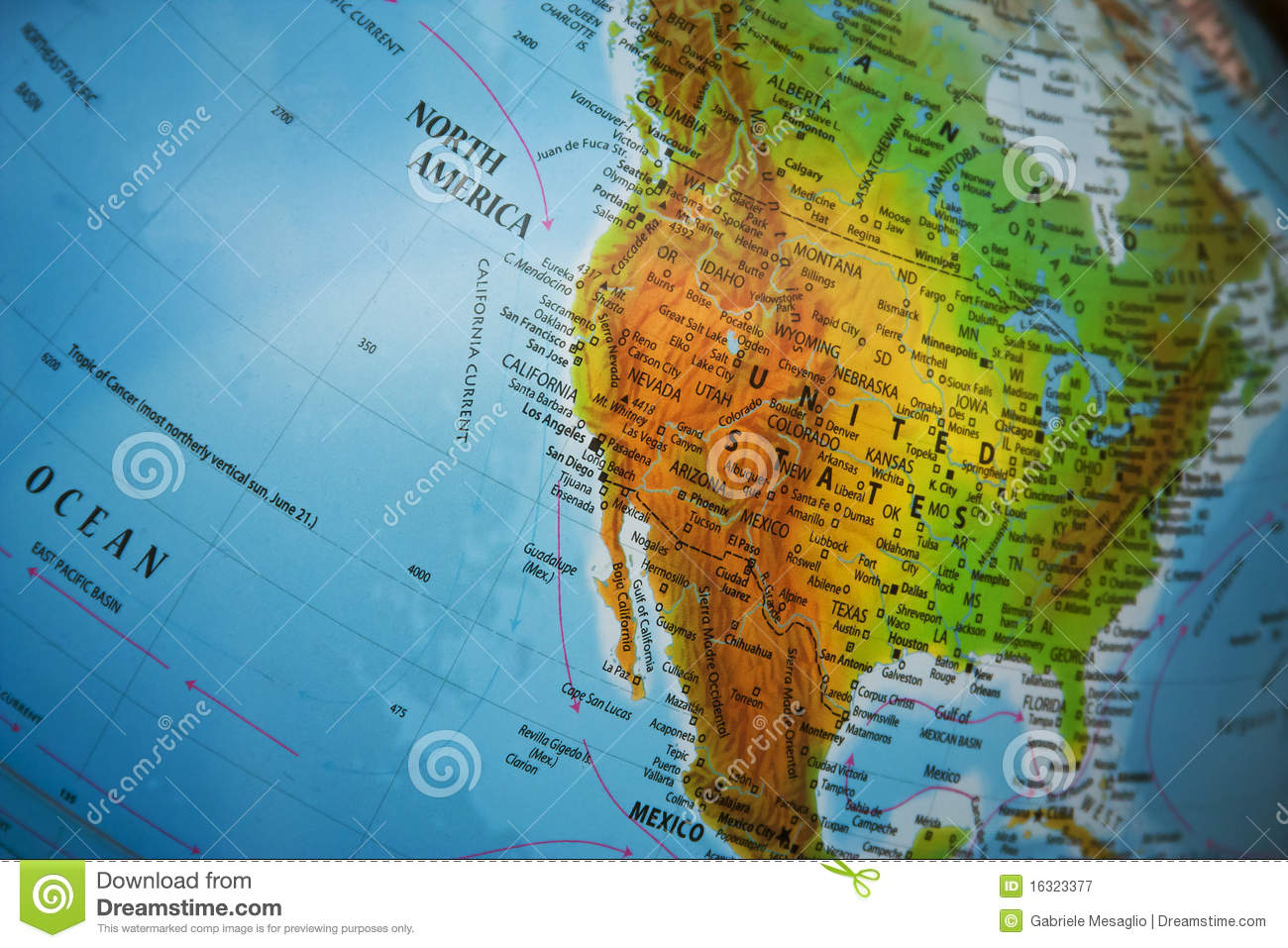 Map Maps USA Florida Canada Mexico Caribbean Cuba South America - Physical map of western us