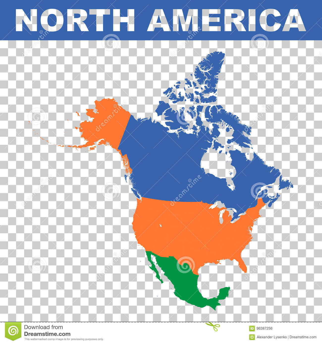 North America Vector Map Stock Vector Illustration Of
