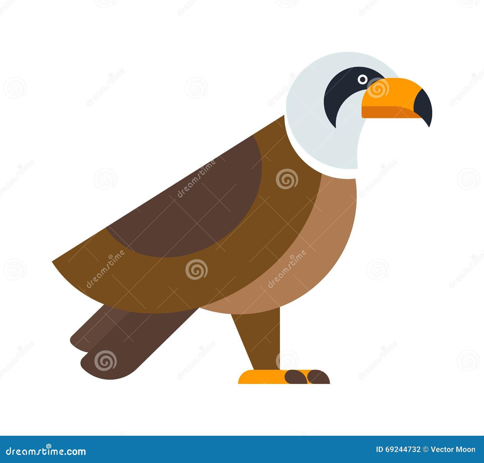 North American Bald Eagle Raptor Wildlife Bird And Hawk ... Flying Hawk Cartoon
