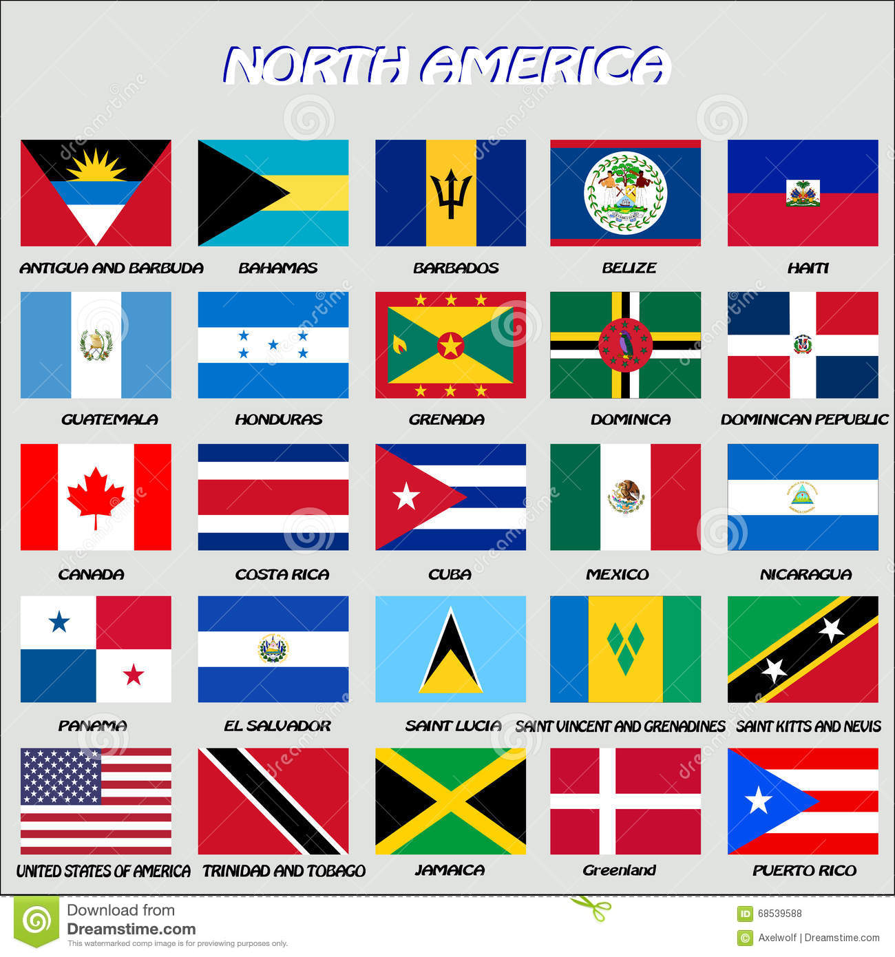 North American Flags Vector Stock Vector Illustration Of Business Globe 68539588