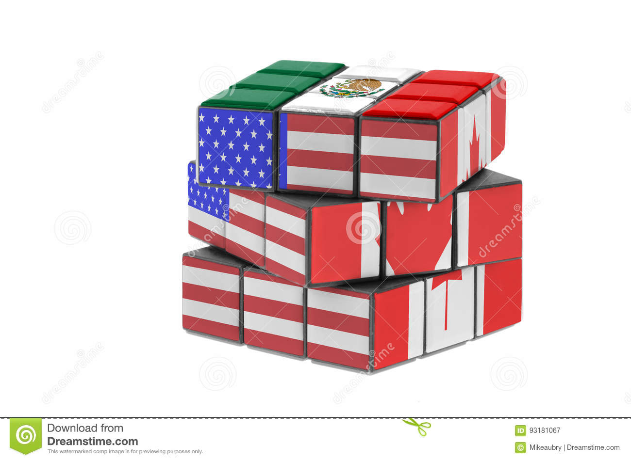 North American Free Trade Agreement Stock Image Image Of Countries